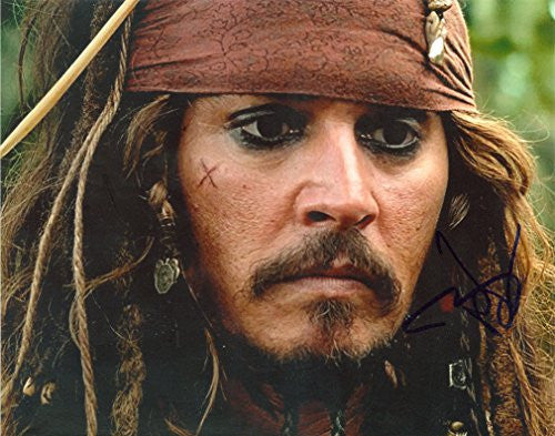 Johnny Depp Autographed  Photo