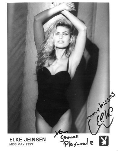 Elke Jeinsen Playmate 1993 Autographed Photo