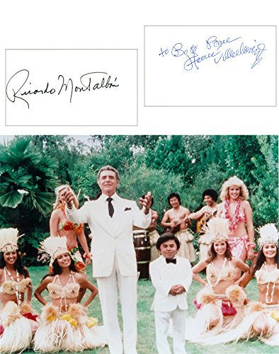 Fantasy Island Signed Cards with 8x10 Photo UACC