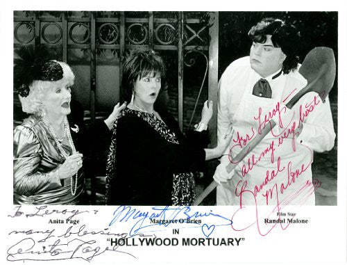 Anita Page Margaret O'Brien Randal Malone Personalized Autographed 8x10 Photo UACC Signed