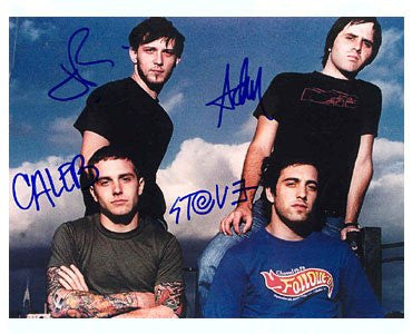 Cave In Indie Rock Group Autographed Photo