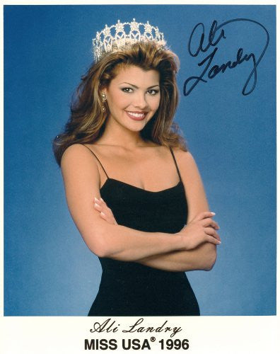 Ali Landry Miss USA 1996 Autographed Photo