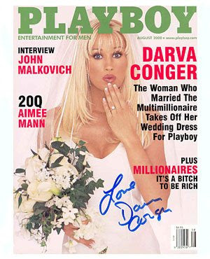 Darva Conger Playboy signed
