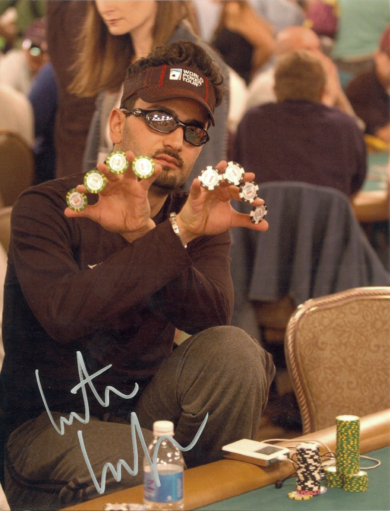 Poker Antonio Esfandiari signed 8x10 Autographed Photo UACC Dealer