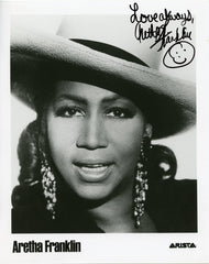 Aretha Franklin Personalized 8x10 Autographed Photo UACC Dealer
