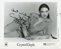 Crystal Gayle Genuine Autograph Signed 8x10 Photo UACC Dealer