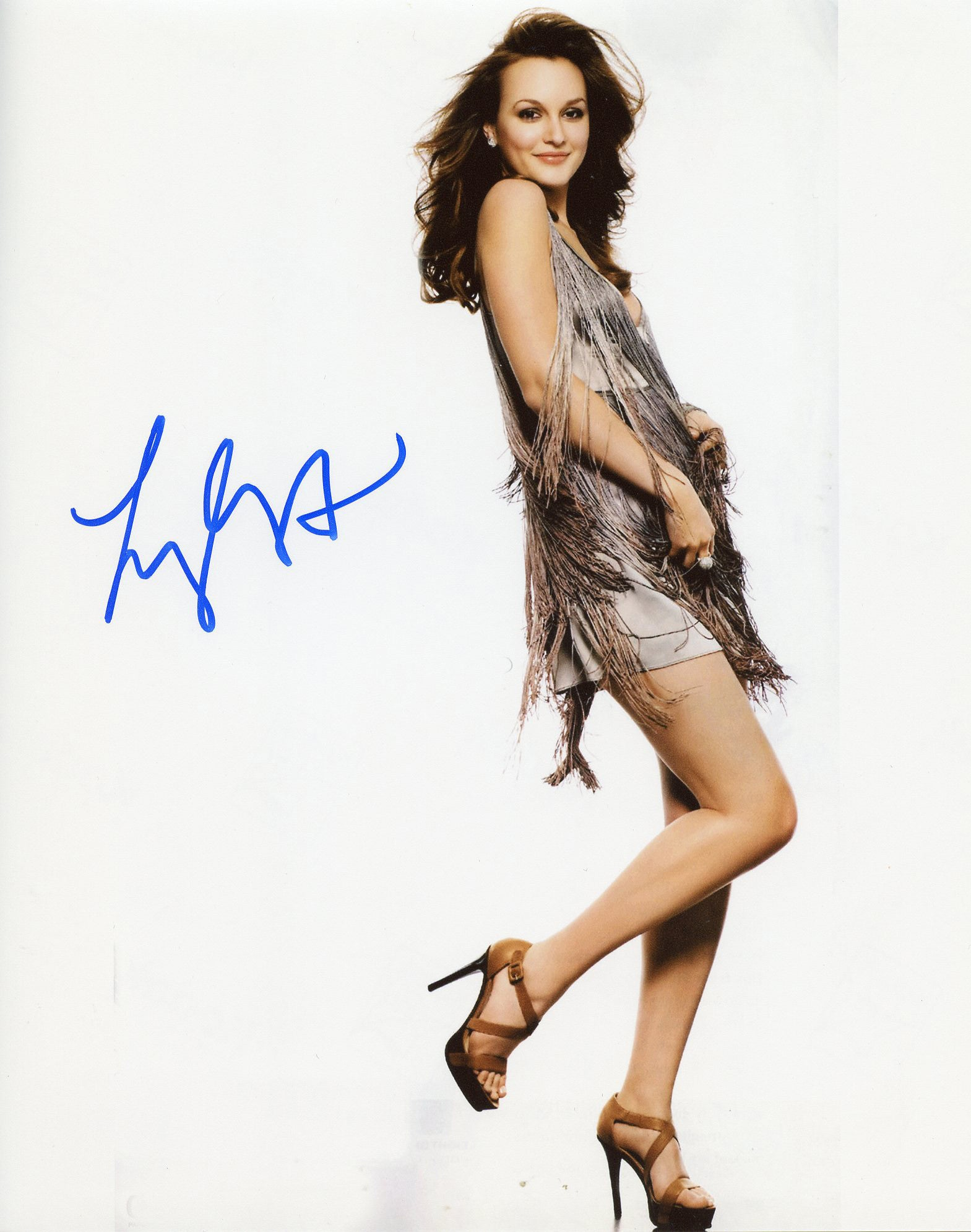 Leighton Meester Genuine Autograph Signed 8x10 Photo UACC Dealer
