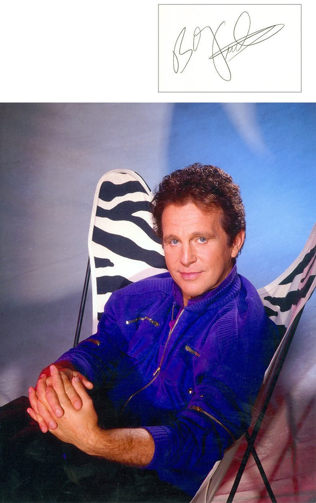 Bobby Vinton 8x10 photo with separate autographed card UACC Dealer Bobby Vinton