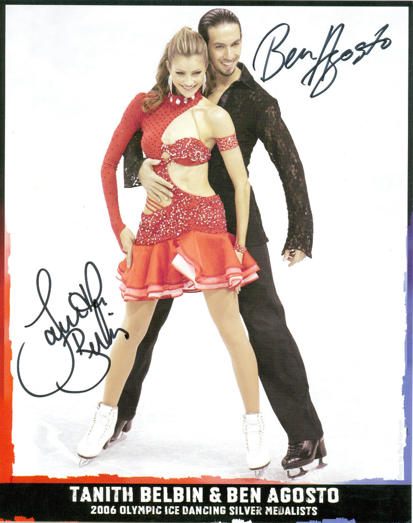 Skating: Tanith Belbin & Ben Agosto Autograph Signed 8x10 Photo UACC Dealer