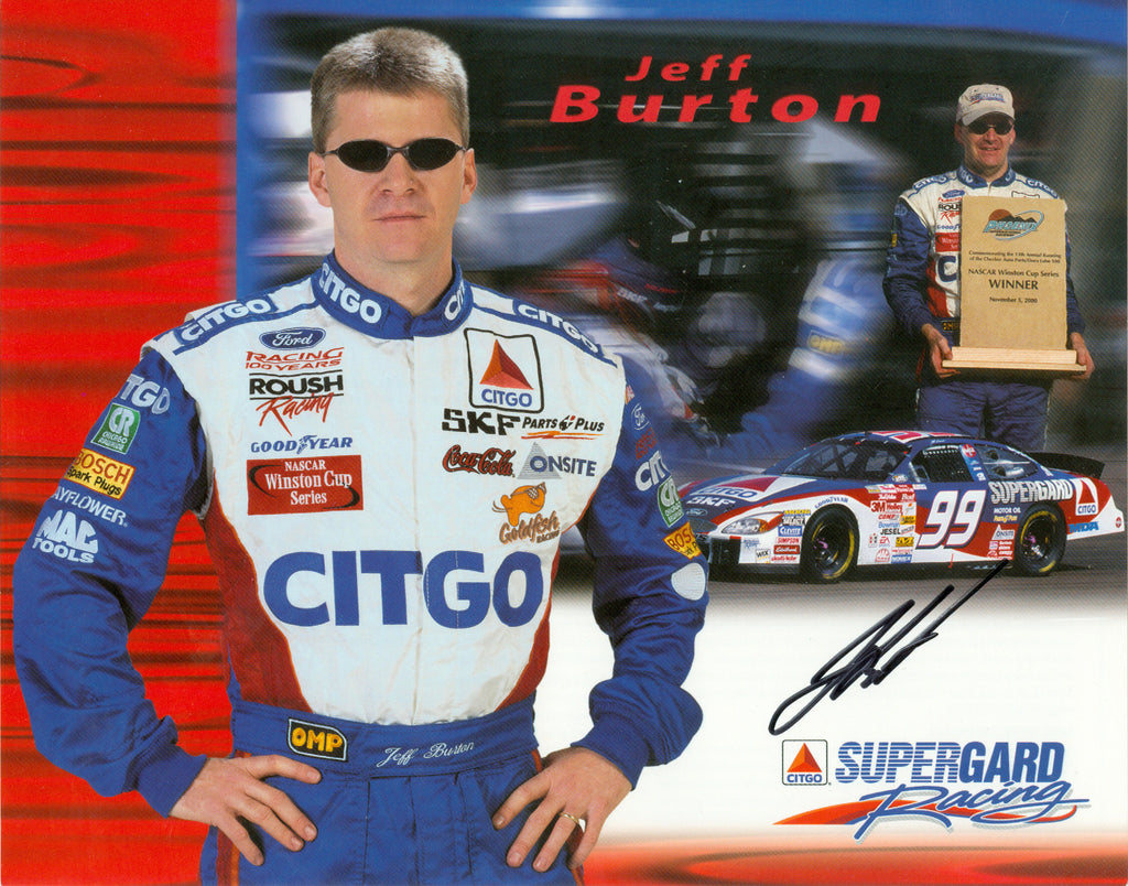 Auto Racing: Jeff Burton Autograph Signed 8x10 Photo UACC Dealer