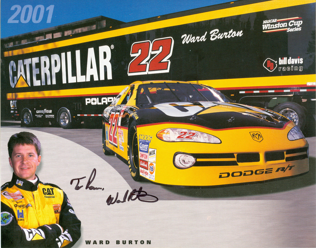 Auto Racing: Ward Burton Autograph Signed 8x10 Photo UACC Dealer