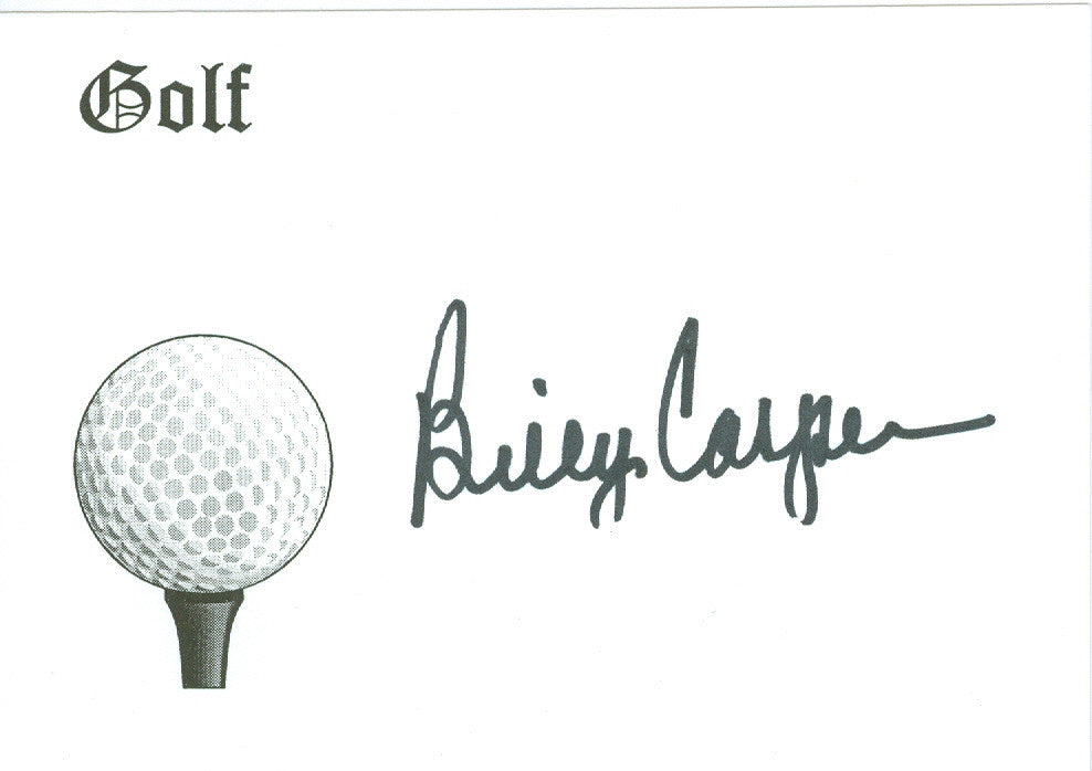 Golf: Billy Casper Autograph Signed 3x5 Card UACC Dealer
