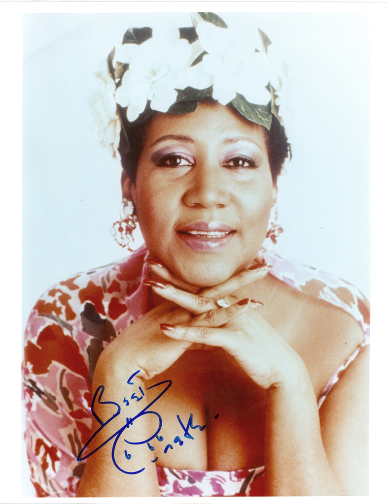 Aretha Franklin signed 8x10 Autographed Photo UACC Dealer