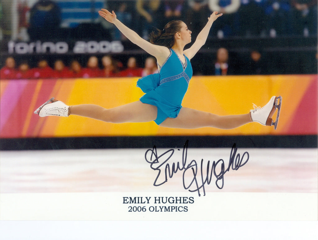 Skating: Emily Hughes Autograph Signed 8x10 Photo UACC Dealer