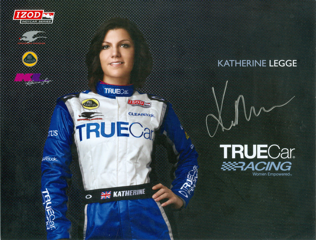 Auto Racing: Katherine Legge Autograph Signed 8x10 Photo UACC Dealer