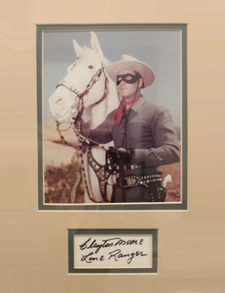 Clayton Moore 11x14 Matted Display