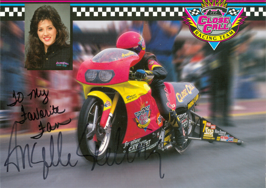 Auto Racing: Angelle Seeling Autograph Signed 8x10 Photo UACC Dealer