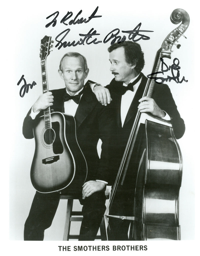 Dick and Tom Smothers signed 8x10 Autographed Photo UACC Dealer