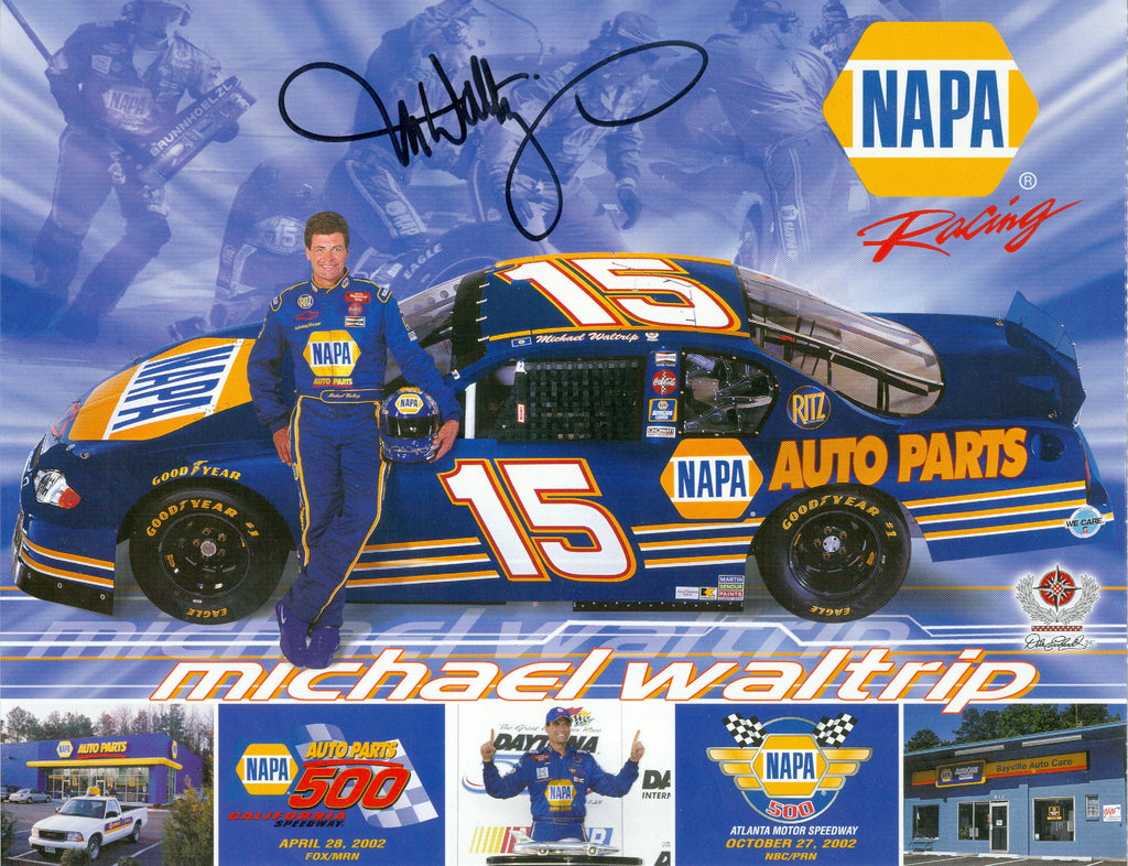 Auto Racing: Michael Waltrip Autograph Signed 8x10 Photo UACC Dealer