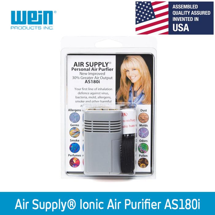 Air Supply® AS180i Personal Ionic Air Purifier [+ 1 Free CR123A Battery] - WEAREREADY.SG