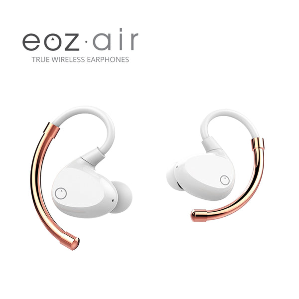 EOZ Air True Wireless Earphones White & Rose Gold