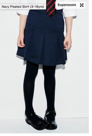 Age 12 NEXT Navy Pleated Skirt 395607