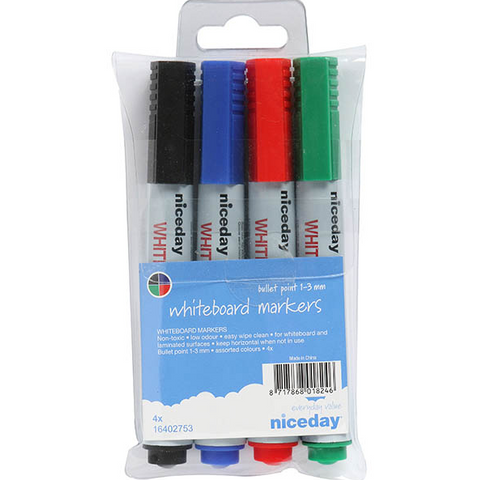 Niceday whiteboard markers pack of 4