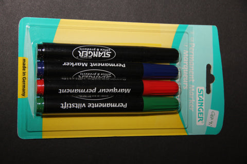 Stanger Permanent Markers set of 4