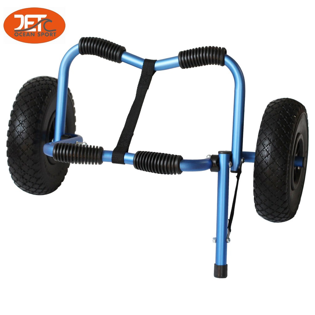 Blue Color Collapsible Kayak Trolley Canoe Wheel Cart Boat Carrier-JET02009BLU