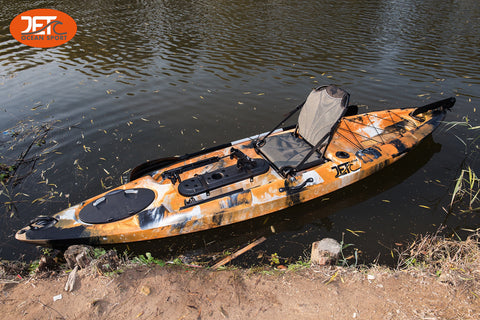 3.66M 12ft Single Pedal Kayak with Aluminum Seat