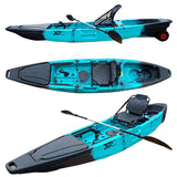 3.66M 12ft Fishing Kayak with Aluminum Seat and Wheel