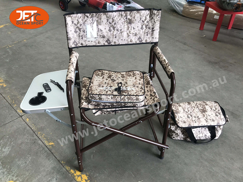 Director chair with heated stadium seat outdoor