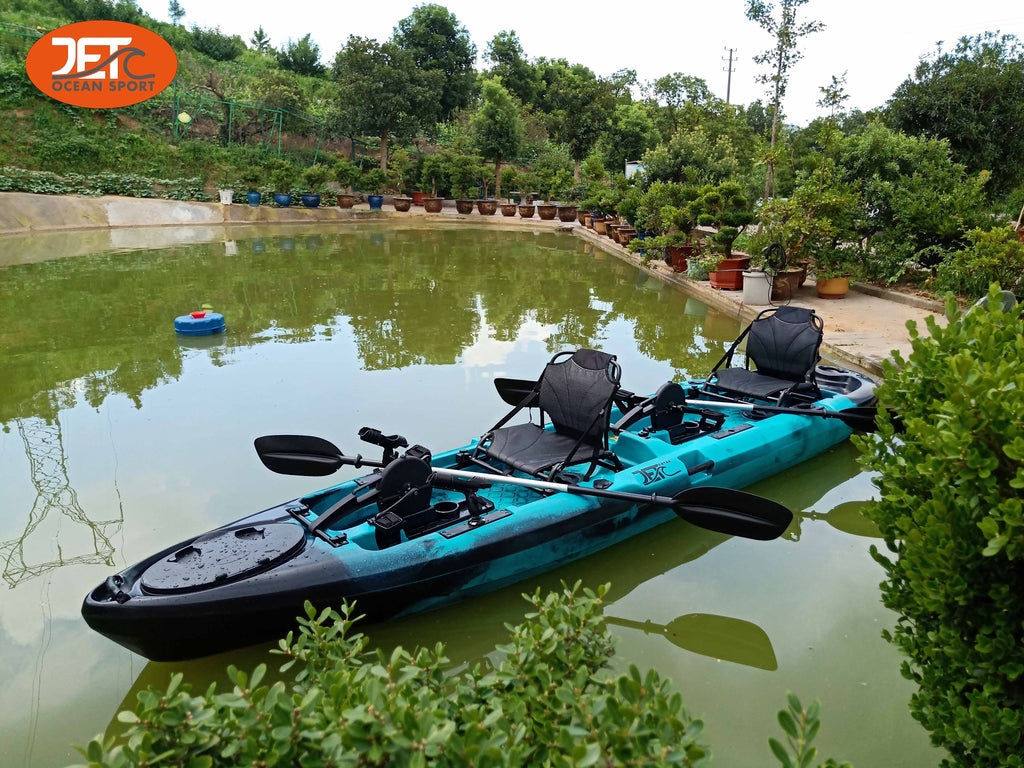 4.3M 14ft Double Family Pedal Kayak with Aluminum Seat