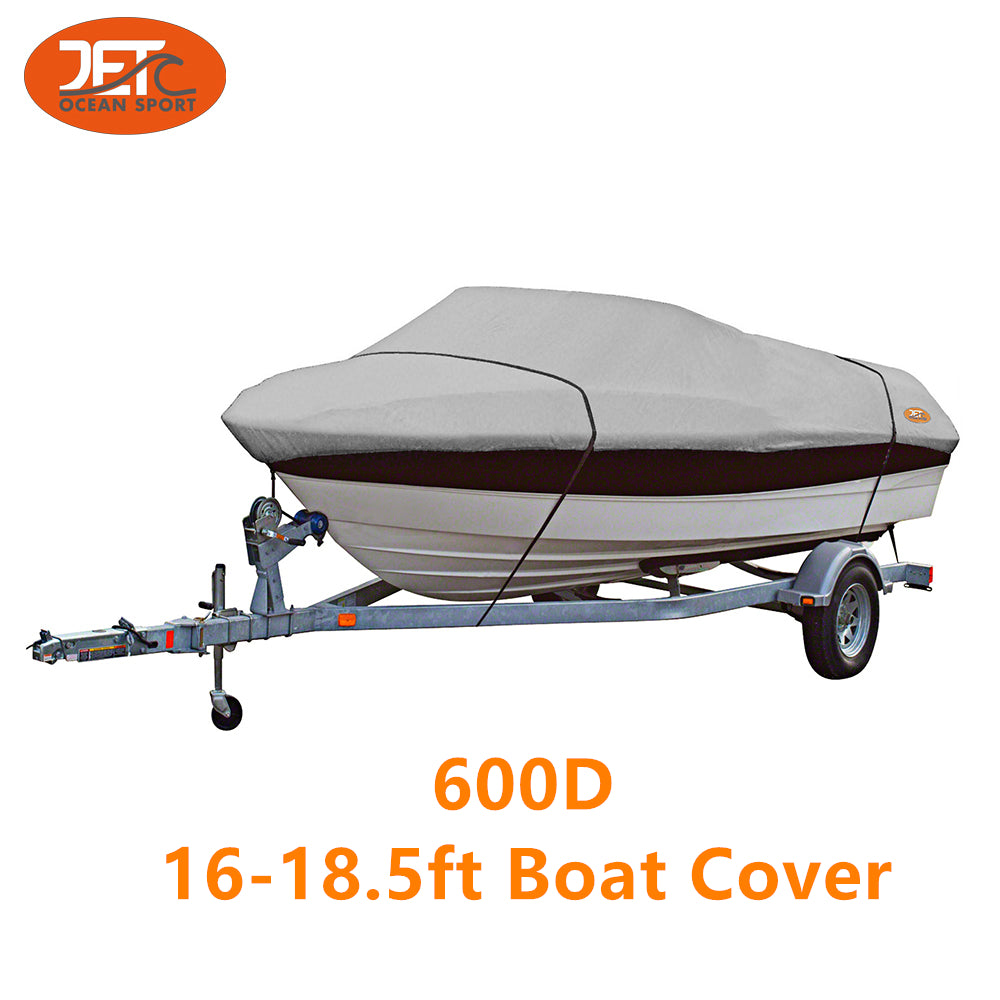 600D 16-18.5ft 94'' Marine Grade Trailerable Fishing Boat Cover