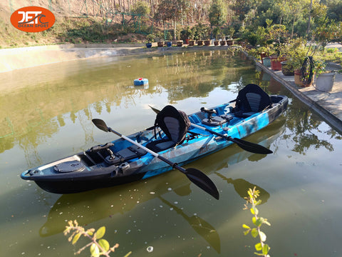 Jet Family-3  4M 2 Seaters Double Family Fishing Kayak with Aluminum Seat
