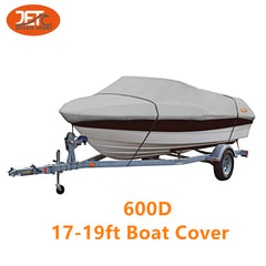 600D 17-19ft 96'' Marine Grade Trailerable Fishing Boat Cover