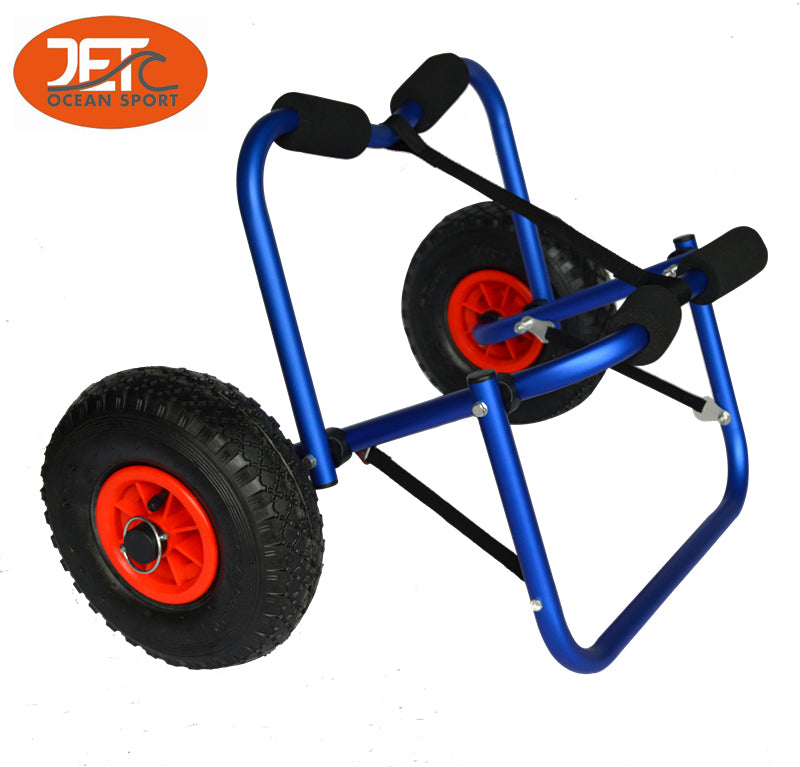Collapsible Alloy Kayak Trolley Canoe Cart Boat Carrier-JET02005BLU