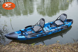 3.7M 2.5 Seaters 2+1 Double Family Fishing Kayak with Aluminium Seat