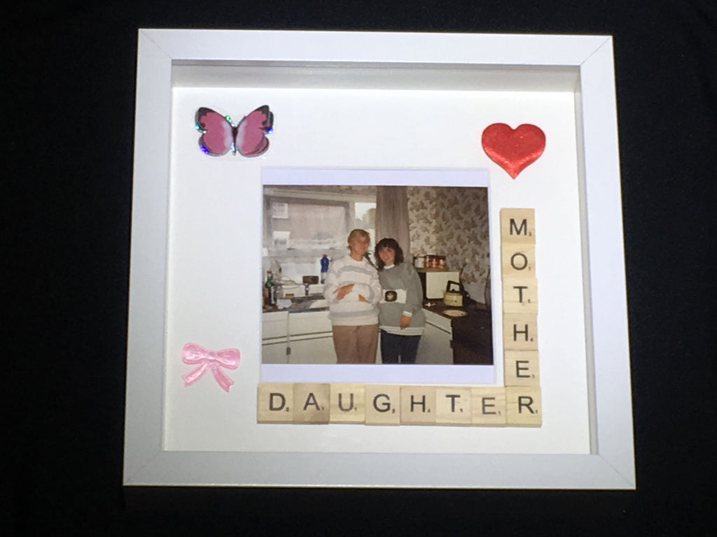 Scrabble Frame Mother Daughter - Personalised Scrabble Frame ...