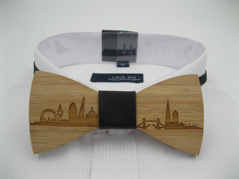 Wood Bow Tie - London - PersonaliseWise - Personalised Photo Gifts - Scrabble Frames