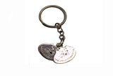 CAT SILVER KEYCHAIN with charm