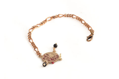 Octopuss BRONZE  ENAMELED BRACELET