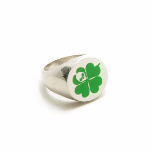 STRAY LUCK SILVER LIGHT ENAMELED RING