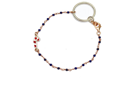 BLUE CHRISTMAS JEWEL BRACELET