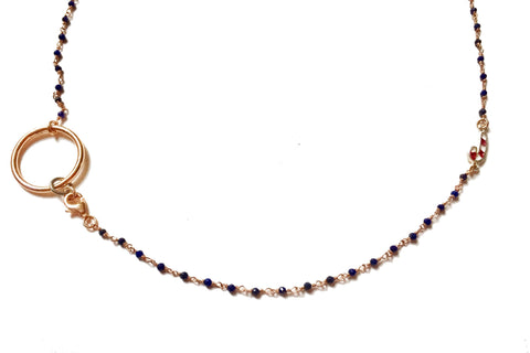 BLUE CHRISTMAS JEWEL NECKLACE