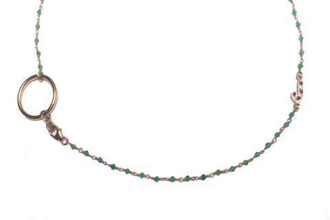 GREEN CHRISTMAS JEWEL NECKLACE