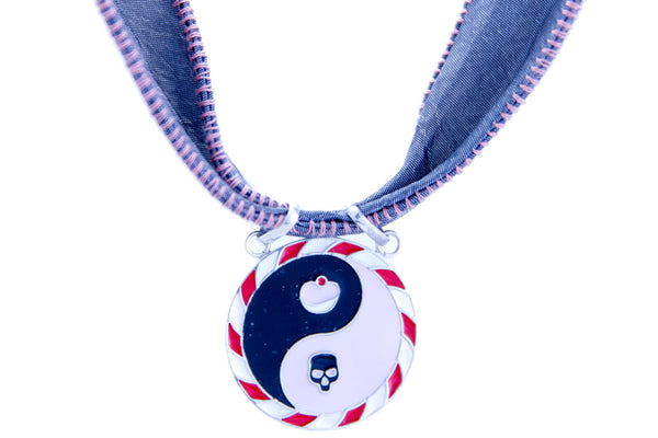 TAO PINK SILVER ENAMELLED PENDANT