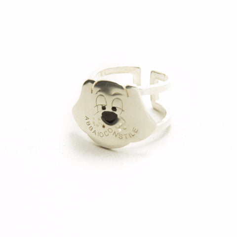 DOG SILVER RING