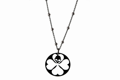 STRAY LUCK SILVER DARK NECKLACE