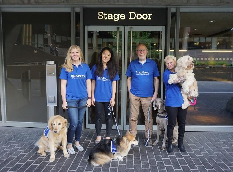 TheraPaws visit National Theatre for MHAW